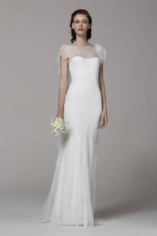 Simple Elegant Satin Wedding Dress for Older Brides Over 40, 50, 60, 70