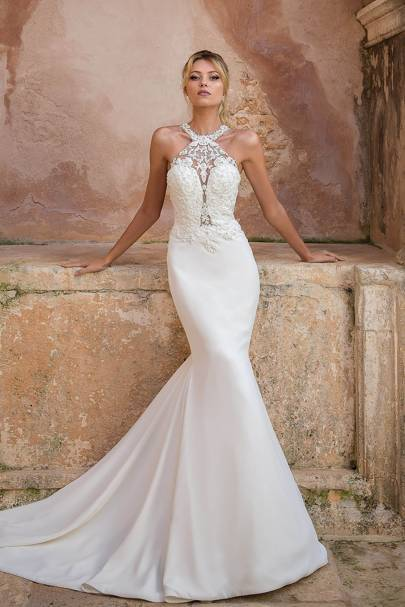 A look from Francesca Miranda's Spring 2019 bridal collection
