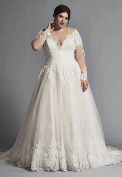 [WW 024] Women Korean Style Elegant Laced White Bridemaid Wedding Dress