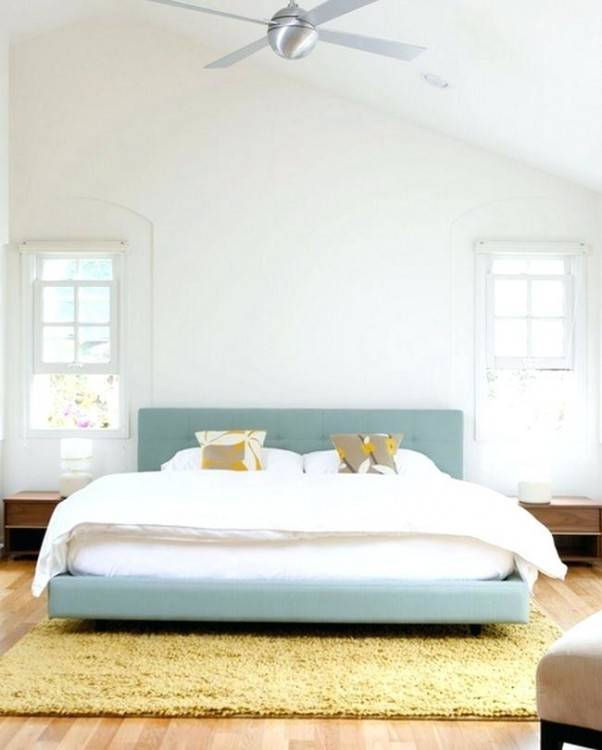 There's a lot of simplicity in this bedroom