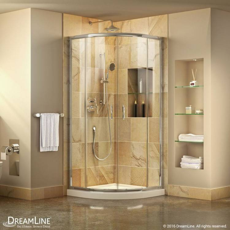 Rick McLean's Designer Bathware 1000 x 1000 x 2000mm Curved Euro Frameless  Shower Screen And Base