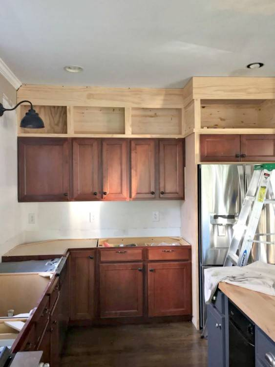How to Install a Crown Molding to Kitchen Cabinets | JustAGirlAndHerBlog