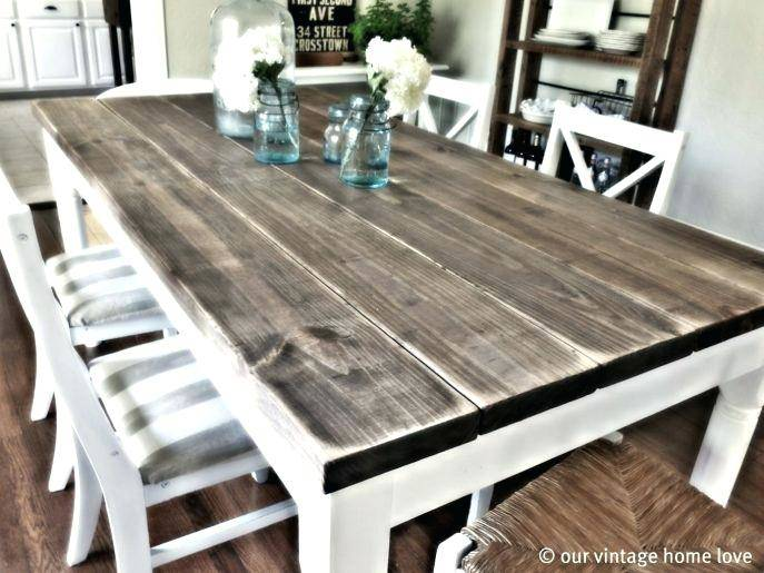 two toned distressed table