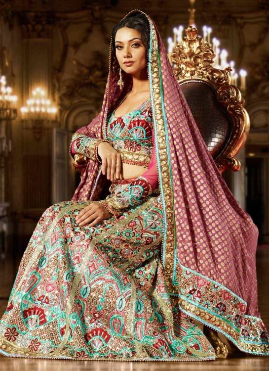A new variation in the category of lehenga and  suit is a trendy lehenga style suit