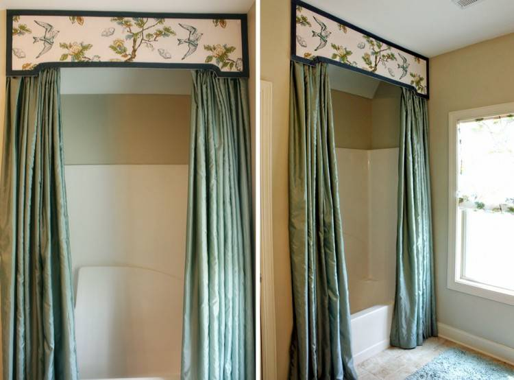 An elegant and tailored valance for the bathroom