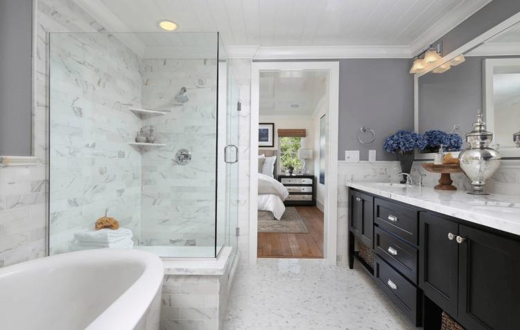 [Decorate Bathroom] Small Space Bathroom Modern Separate Shower Bath