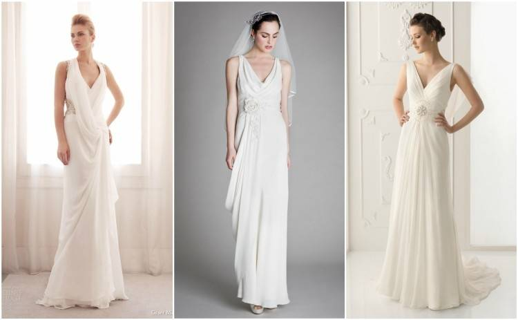 Ruched and Pleated Simple Style Mermaid Wedding Dress With Beaded Cape