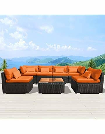 outdoor wicker bistro set rattan sofa cushion chair sectional furniture
