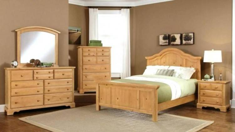 oak bed set bedroom