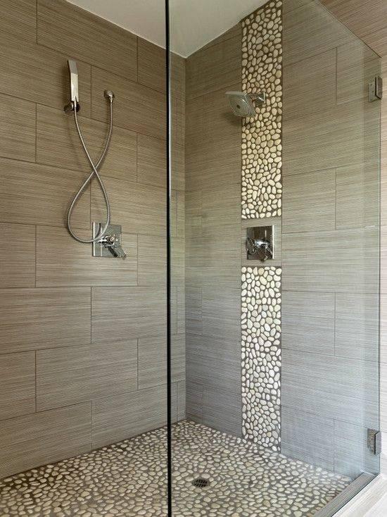 River rock bathroom