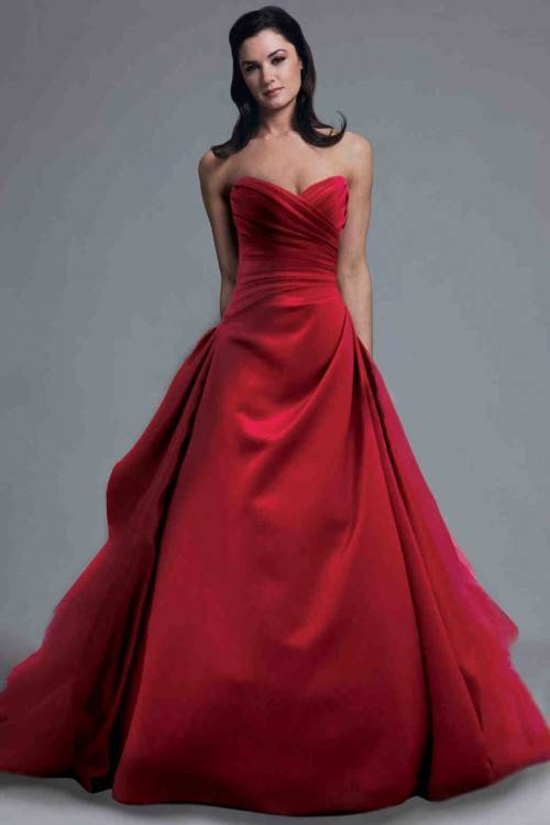 2018 Gothic Red And Black Wedding Dresses Ball Gown One Shoulder Style Back  Corset Cascading Ruffles Bridal Gowns Vintage Bridal Dress White Ball Gown