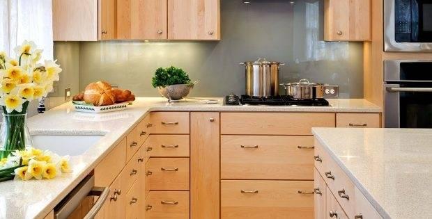 natural wood cabinets kitchen