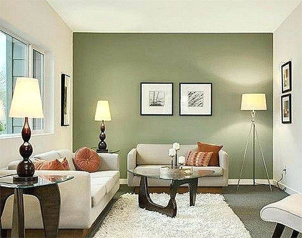 olive green bedroom