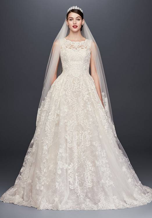 948 Lace Wedding Gown with High Neckline by Martina Liana