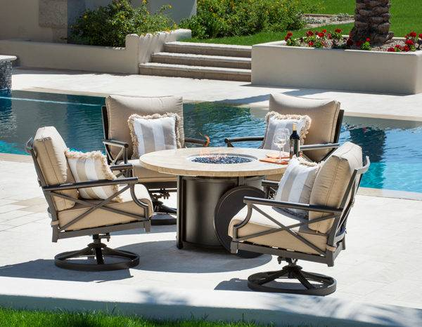 outdoor furniture with fire table exclusive design patio furniture fire pit  table set sets with