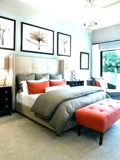 orange and grey bedroom ideas