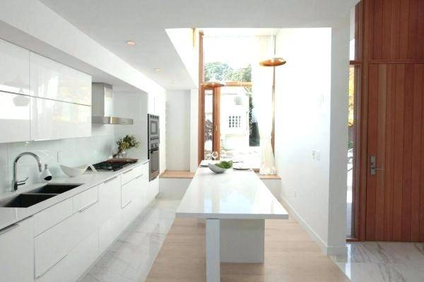 Spaces Stylish Narrow Kitchen Ideas Narrow Kitchen Layout Home Design  Ideas Pictures Remodel And Decor