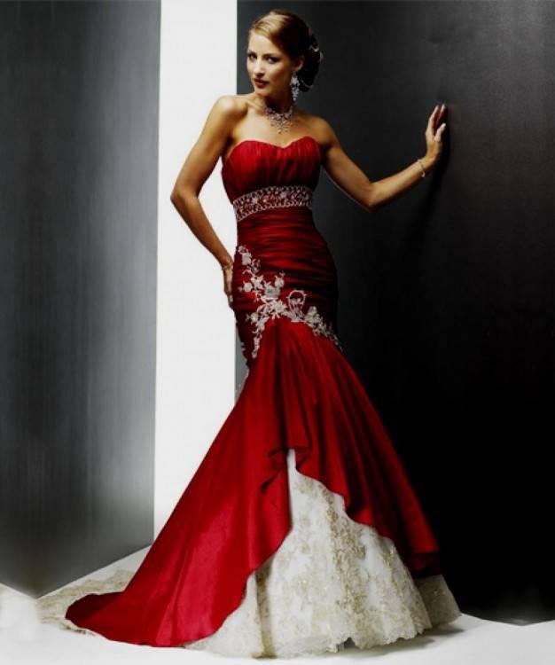 Beautiful, sexy red dress: Moonlight Wedding Dress Style J6165
