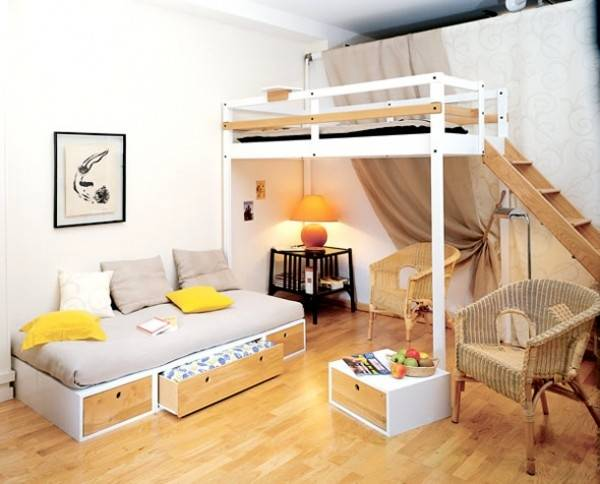 great idea for the small bedroom and being able to use all the space there is
