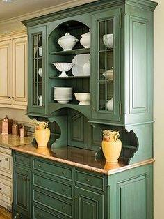 Notice the inset doors with beaded face frame openings in this custom kitchen  cabinetry