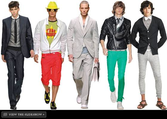 Whites will be popular fashion trends for men in the Spring & Summer 2013  season