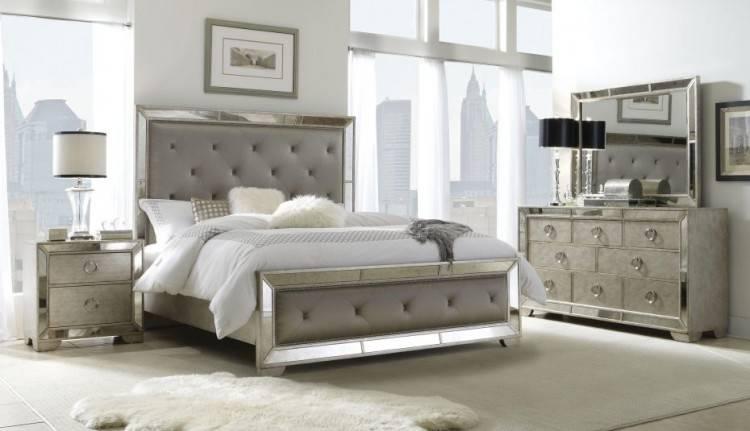 Grey interior bedroom