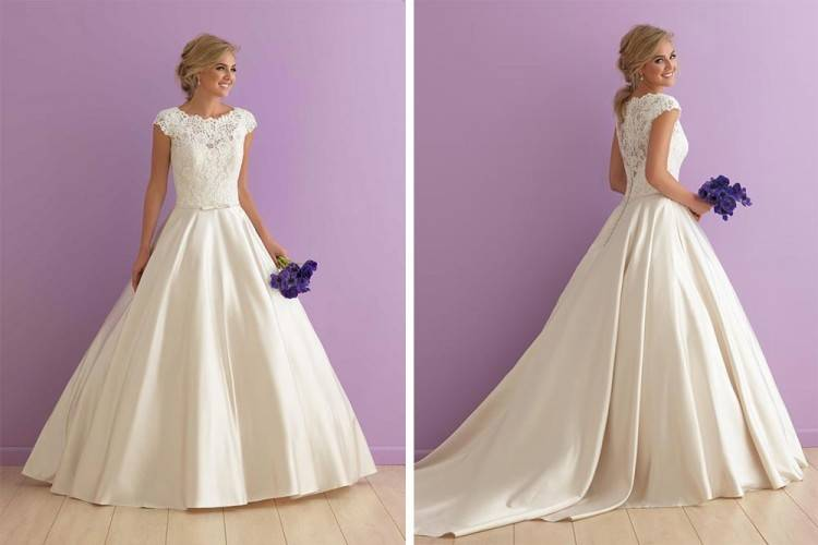 Jim Hjelm Ivory Lace Polyester Tulle Style 8700 By Hayley Paige Modern Wedding Dress Size 8