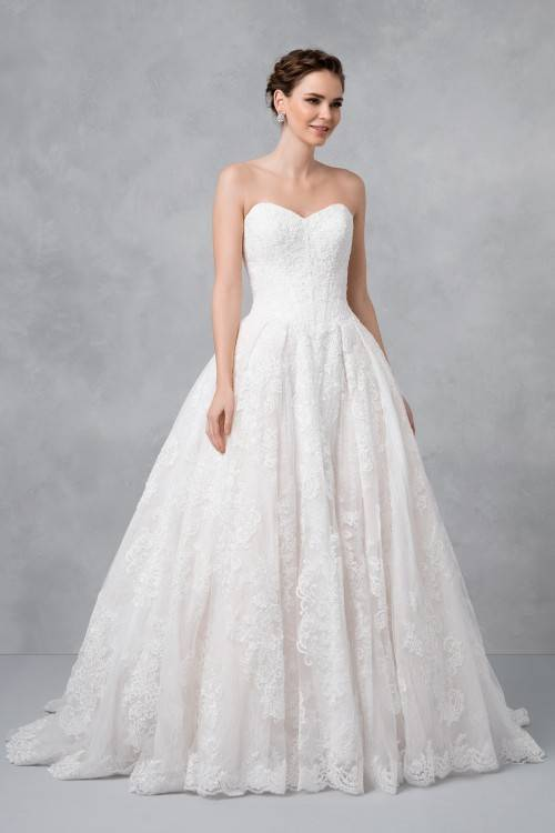 The most classic of all wedding dresses is here and petite brides are going  to love it