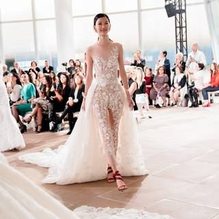 Here comes the trendy bride: New York bridal's fall 2019