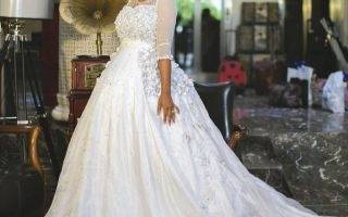 2018 Bling African Nigeria New Mermaid Wedding Dresses Jewel Neck Long  Sleeves Crystal Beaded Pearls Sweep Train Custom Formal Bridal Gowns Alfred  Wedding