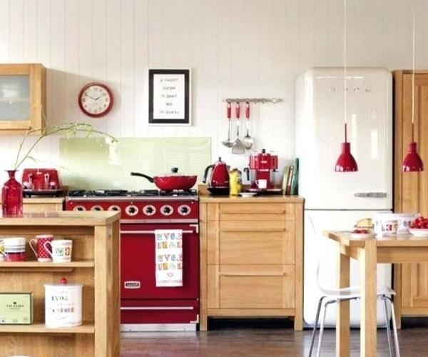 red kitchen decor accessories