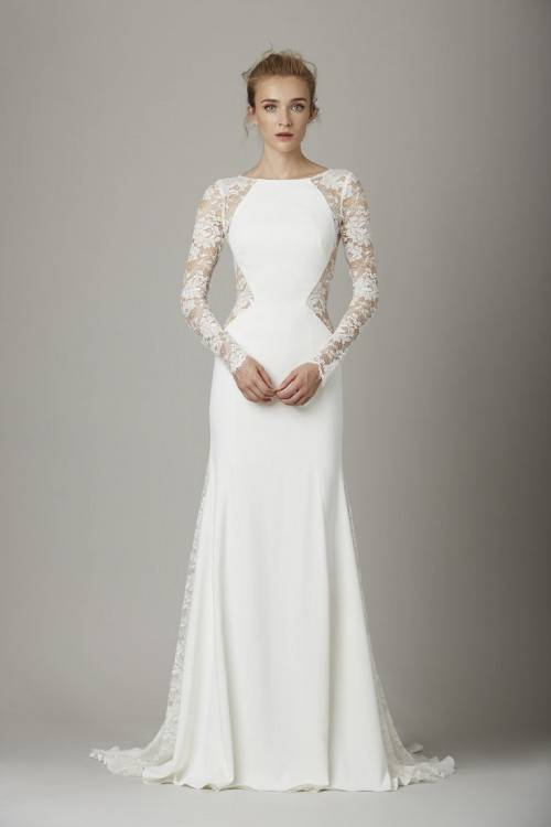 Discount Luxury Milla Nova Bridal 2017 Modern Wedding Dresses Champange Lace Beaded Sheer Neck Court Train Detachable Oversirts Gowns Country Garden Cheap