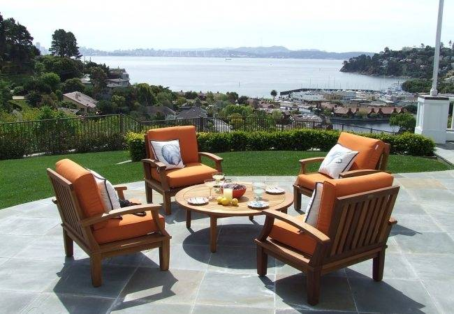 Excalibur Outdoor Living Ruby Series 4 Piece Lounge Setting