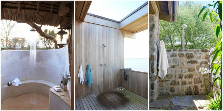 Mdumbi Backpackers: The outdoor showers are great