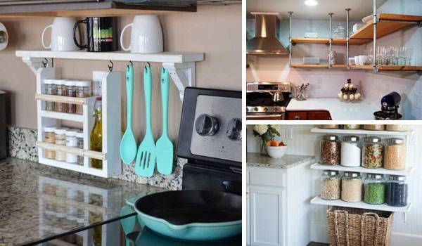 contemporary floating shelves in the kitchen home design lover with  floating shelves for kitchen ideas floating