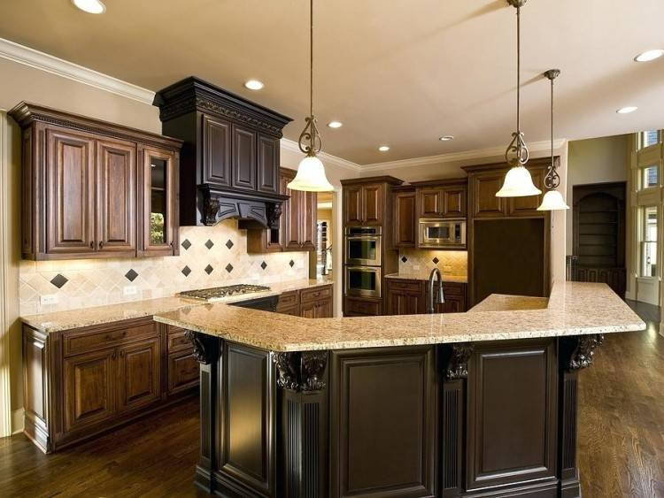 Mini Kitchen Remodel New Lighting Makes A World Of Difference · Antique Kitchen Islands Ideas Furniture Simplistic