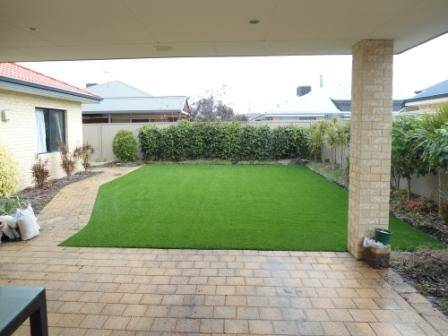 A very beautiful hastle free artificial lawn