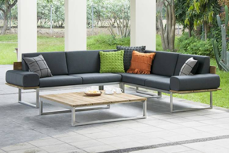 The Palmas premium outdoor lounge setting, complete with Sunbrella fabric