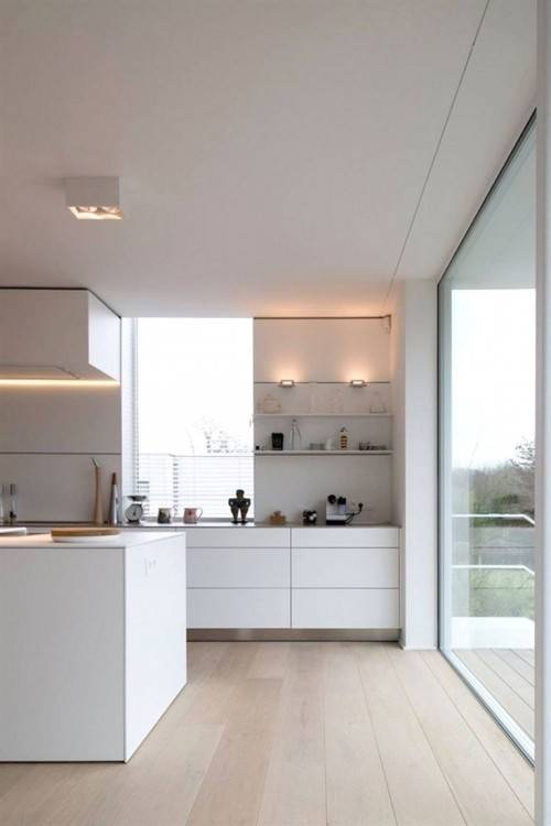 Modern Kitchen White Home Decor Design Ideas Custom Cabinets