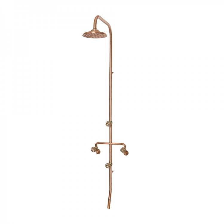 copper outdoor shower head ideas rain australia