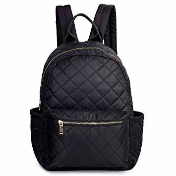 Quilted Woven Backpack