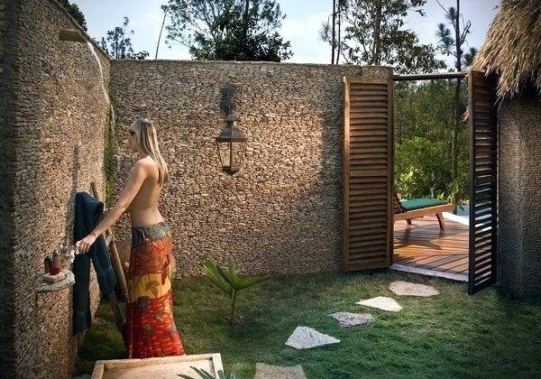 Gaia Retreat Center: Garden Bathroom yes! See more ideas about Outdoor  showers, Outdoor bathrooms and Outdoor baths