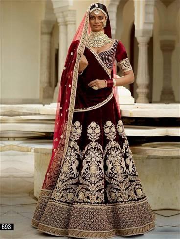 The traditional wedding dress is a Saree or Lehenga