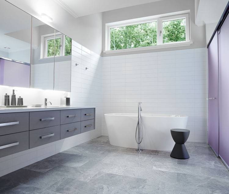 gray tile bathroom ideas