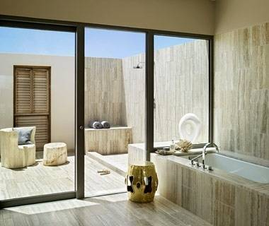 An outdoor bathroom requires privacy