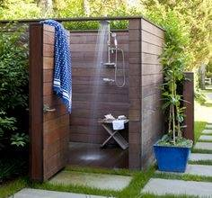 Xobega Island Camp: Bathrooms have outdoor showers and chemical toilets