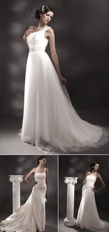 K Tut · SC · Cowl Back Wedding Dress, Greek Style