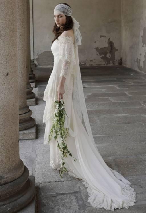 gypsy boho wedding dress