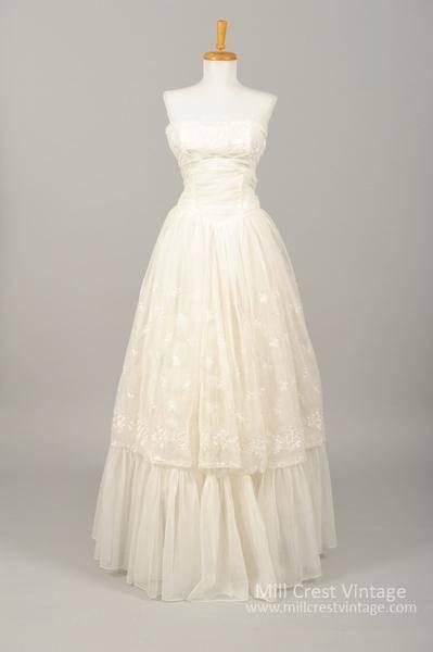 designer BHLDN vintage 1950s 1960s wedding gowns wedding dress Margeaux Gown