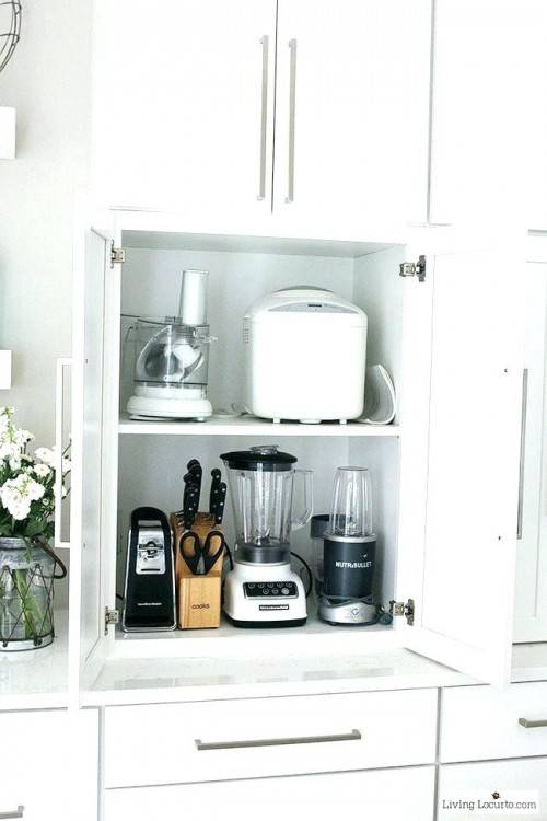 storage kitchen appliances how to hide a microwave